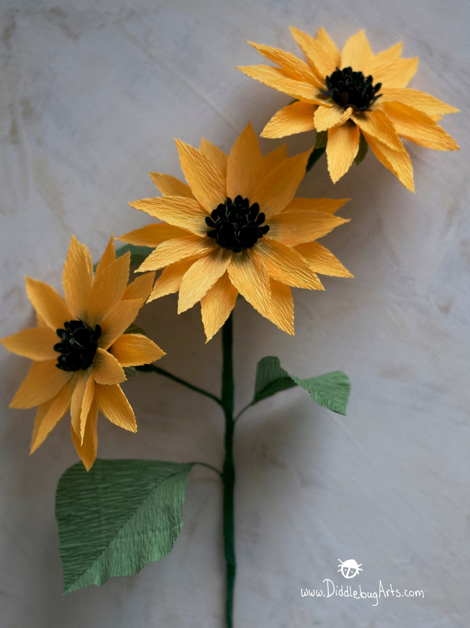 crepe paper sunflowers