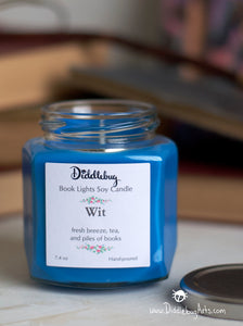 Ravenclaw harry potter house inspired soy candle blue
