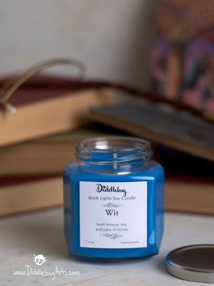 blue soy candle inspired by harry potter ravenclaw house