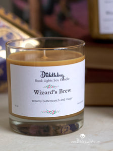 glass butterbeer candle