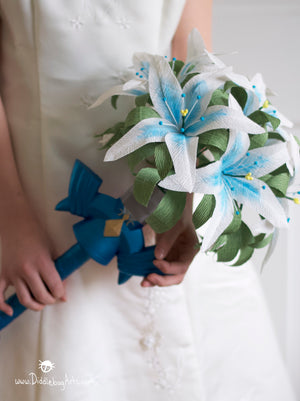 Silent princess flowers from breath of the wild video game bridal bouquet