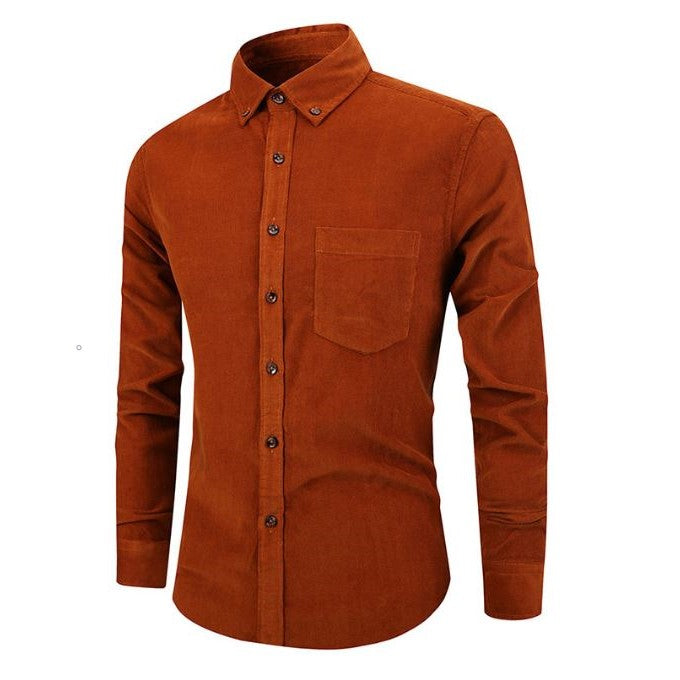 Single Breasted Corduroy Shirt