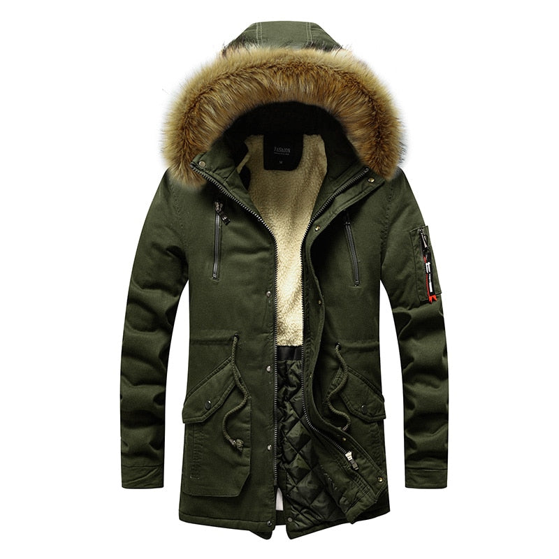 Fur Hooded Winter Jacket