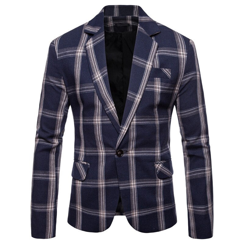 Plaid Modern Fit Blazer