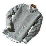 Knitted Round-Neck Sweatshirt