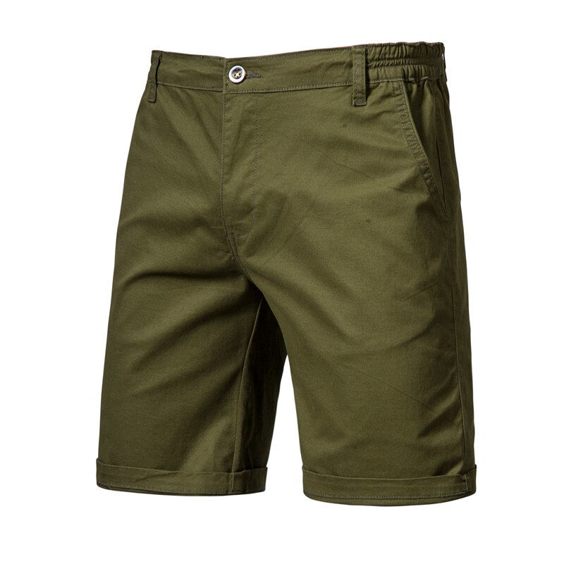 Solid Knee Length Summer Shorts