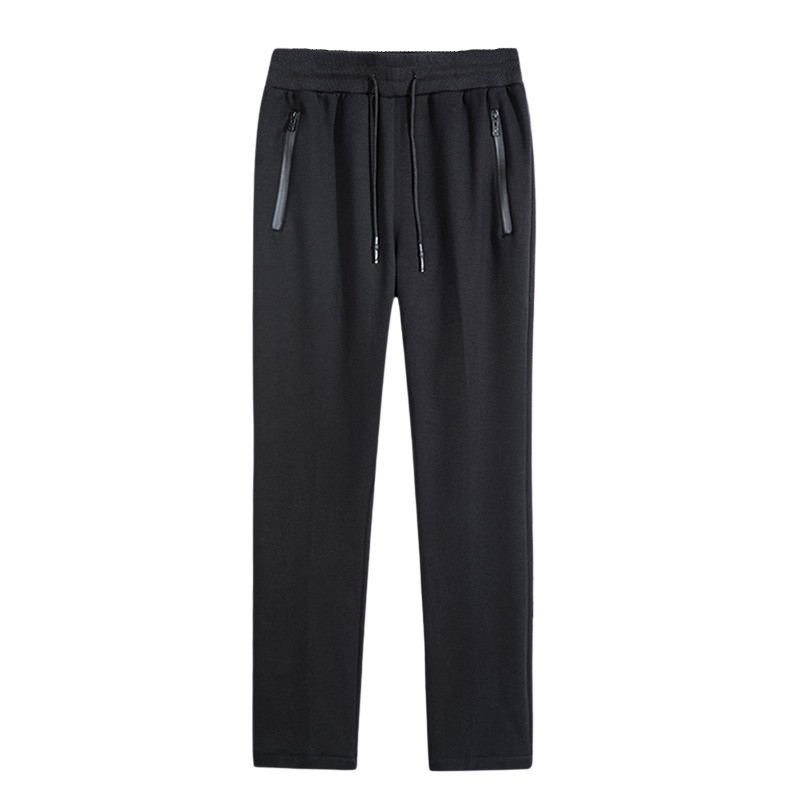 Zipper Pocket Straight Sweatpants