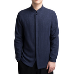 Elegant High Collar Button Shirt