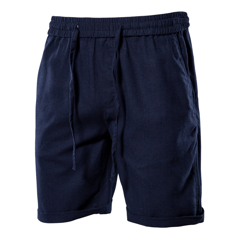 Cotton Linen Solid Color Shorts
