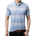 Striped Button Polo Shirt