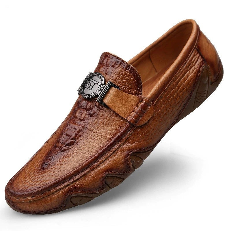 Crocodile Pattern Moccasins