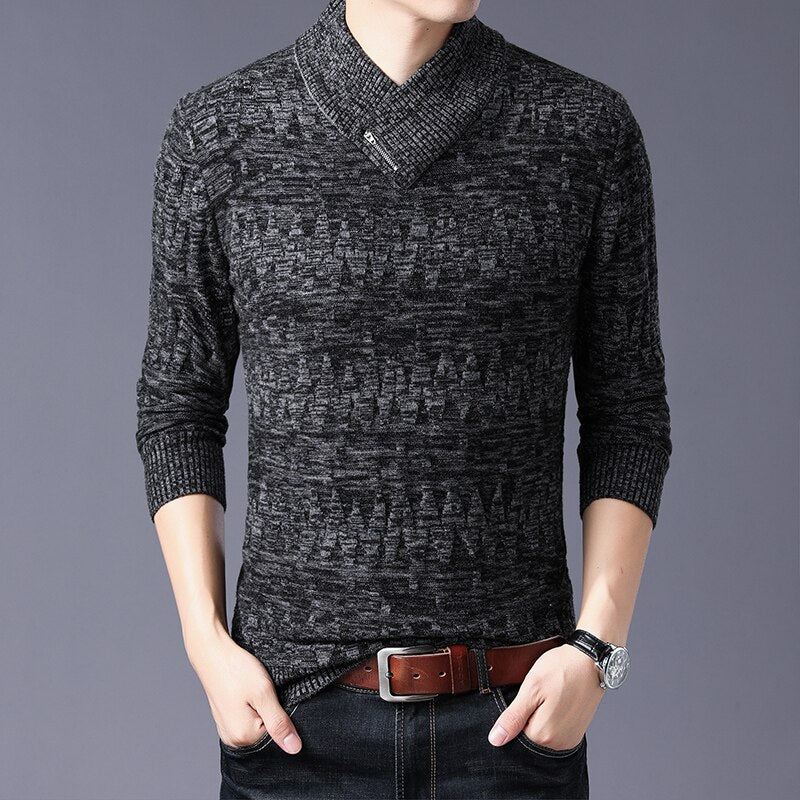 V-Collar Winter Sweatshirt