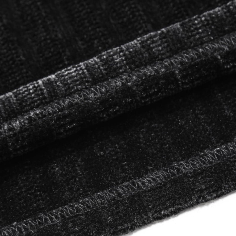 Corduroy Black Sweatshirt