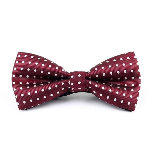 Dotted Red Bow Tie