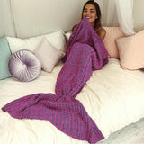 Cozy Knit Mermaid Blanket