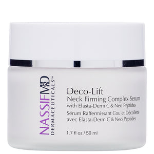 Deco-Lift Neck Firming & Lifting Complex Serum with Powerful Peptides that smooth wrinkles for younger looking skin
