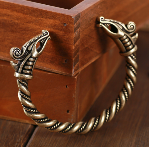 Viking Torc Bracelet - Bronze-Viking Caulking-Viking Caulking