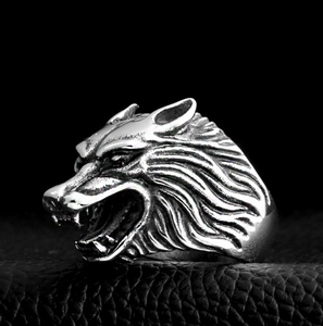 Wolf Head Ring-Viking Caulking-Viking Caulking
