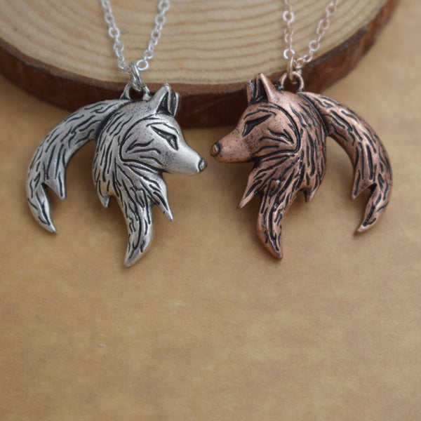 Wolf Couples Necklace