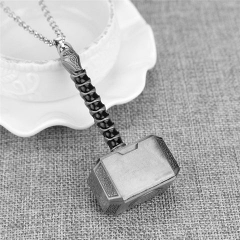 Stainless Steel Thor's Hammer Necklace