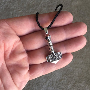 Thor's Hammer Necklace Silver