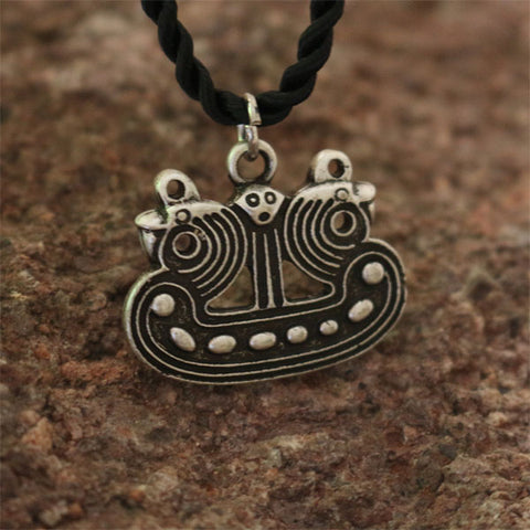 Viking Ship Pendant Necklace-Viking Caulking