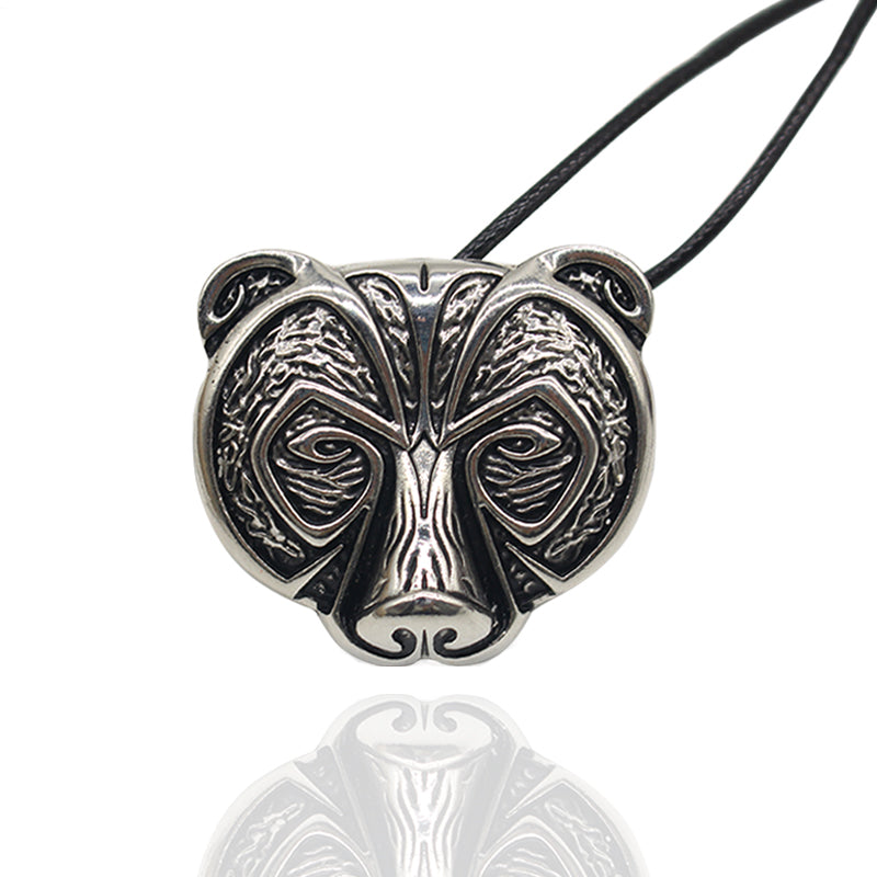 Bear Face Necklace-Viking Caulking-Viking Caulking