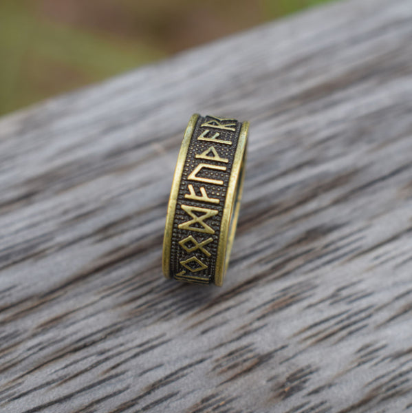 bronze VIKING RUNE RING