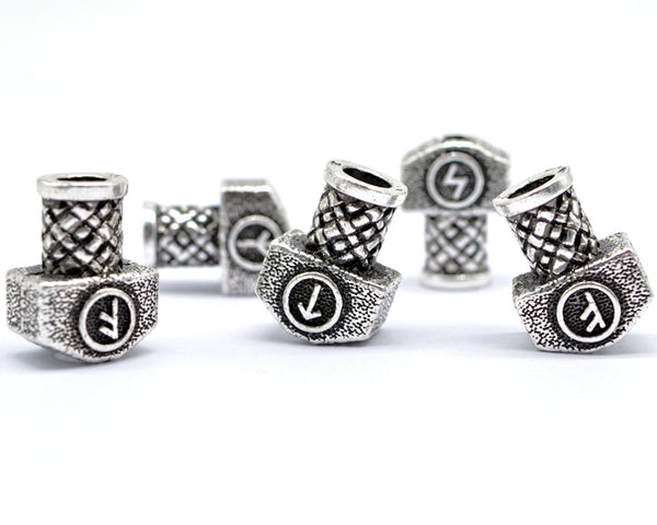 Viking Mjolnir Beads