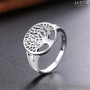 Sterling Silver Tree of Life Ring-Viking Caulking-Viking Caulking
