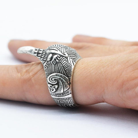 Viking Raven Ring