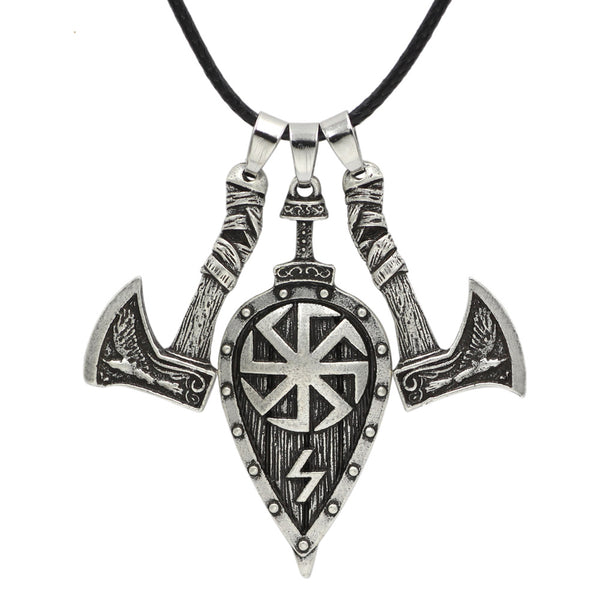 Shield and Axes necklace