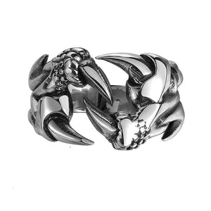 Dragon Claw Ring - Stainless Steel-Viking Caulking