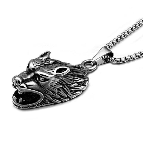 Wolf Necklace-Viking Caulking-Viking Caulking