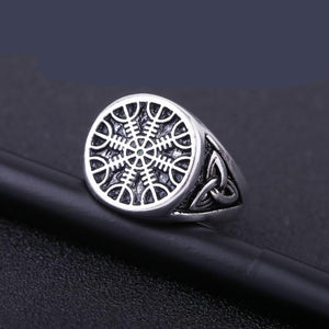 Helm of Awe Ring - Sterling Silver
