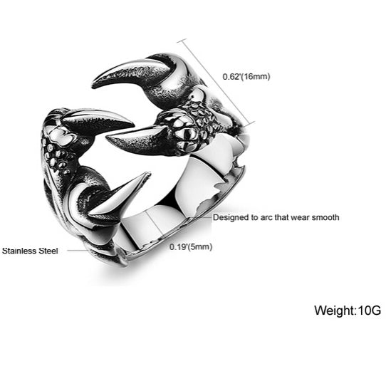 Dragon Claw Ring-Viking Caulking-Viking Caulking