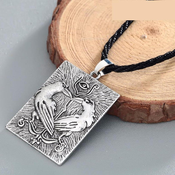 Huginn and Munin Ravens Pendant-Viking Caulking