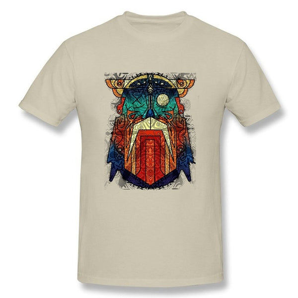 Geometric Modern Odin Vikings T Shirt-Viking Caulking