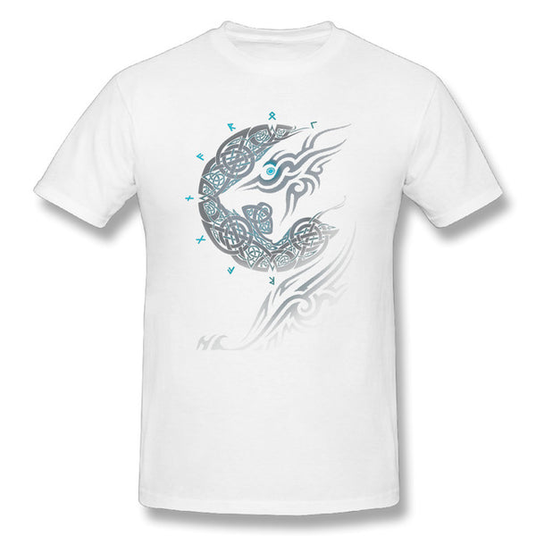 Fenrir Norse Wolf T-Shirt-Viking Caulking-Viking Caulking