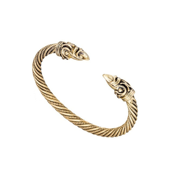 Viking Raven Arm Ring - Brass-Viking Caulking