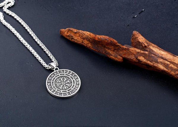 VEGVISIR AMULET NECKLACE WITH CORD