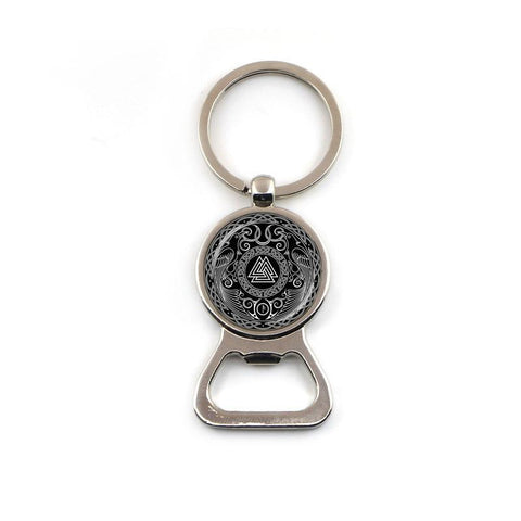 Valknut Keychain and Bottle Opener-Viking Caulking-Viking Caulking