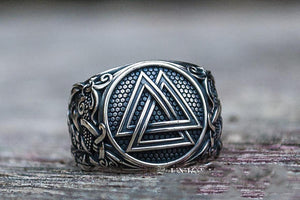 Norse Ring - Sterling Silver-Viking Caulking