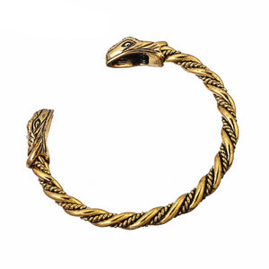 Snake Head Bracelet-Viking Caulking