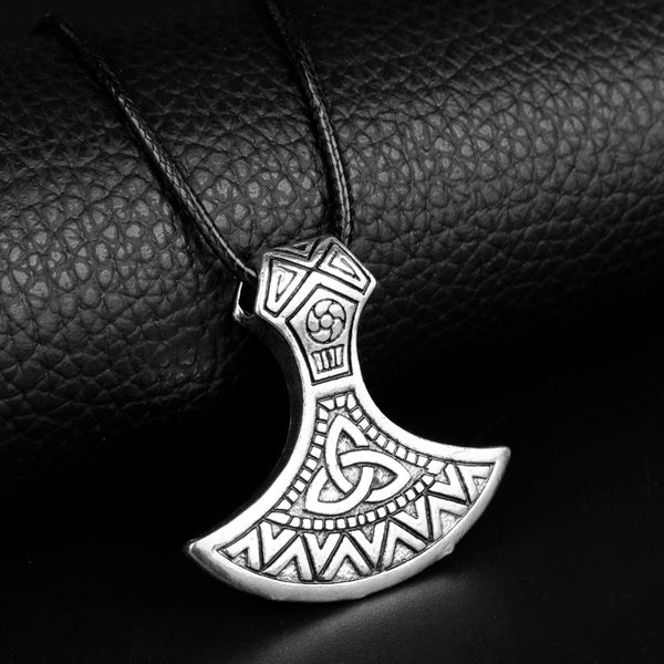 Viking Axe Pendant Necklace-Viking Caulking