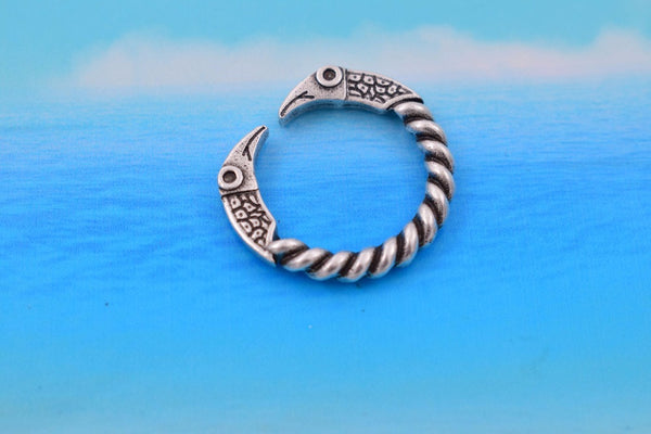 Raven Ring - Pewter-Viking Caulking-Viking Caulking