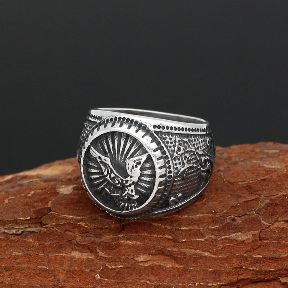 Ravens Ring - Sterling Silver-Viking Caulking-Viking Caulking