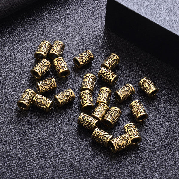 Full Set of 24 Viking Rune Beads-Viking Caulking-Viking Caulking