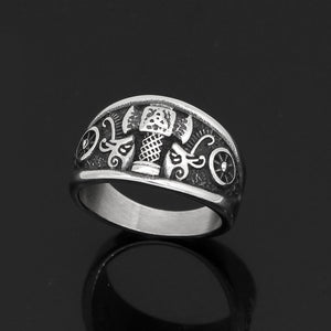 Viking Mjolnir Ring - Stainless Steel