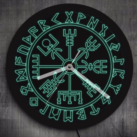 Vegvisir Compass Vikings clock